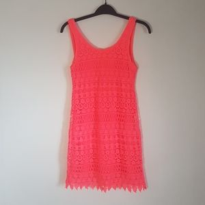 Divided Neon pink  tank dress size 2